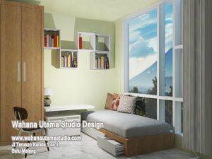 Desain Interior 3D Kamar Kos Minimalis