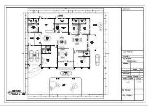 Gambar Denah Rumah Eropa Klasik 1 Lantai