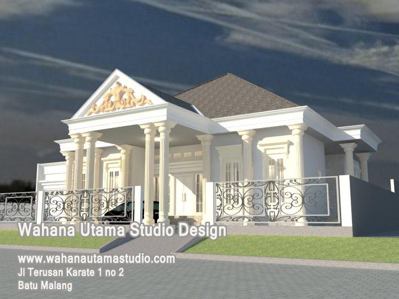 Jasa Arsitek Rumah Eropa Klasik 1 Lantai Bapak Rahmatullah Aceh