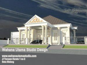 Model Rumah Eropa Klasik Lantai 1