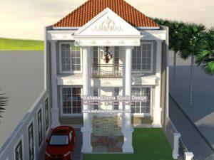 Desain Rumah Mewah Eropa Klasik 2 Lantai