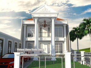 Desain Rumah Eropa Klasik 2 Lantai
