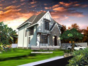 Desain Gambar Rumah Farm House 2 Lantai