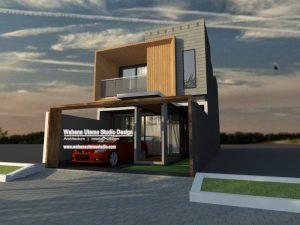 Denah Rumah Kontemporer Modern 2 Lantai