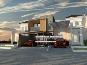 Gambar Desain 3D Rumah Kontemporer Modern