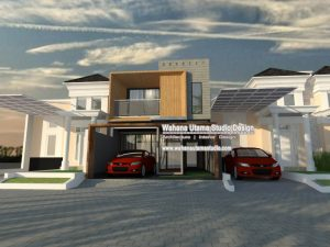 Desain Exterior Rumah Modern Kontemporer 2 Lantai