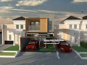 Gambar Rumah 3D Modern Kontemporer 2 Lantai