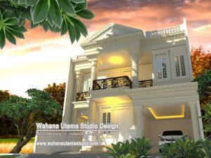 Desain Rumah Eropa Klasik 3 Lantai