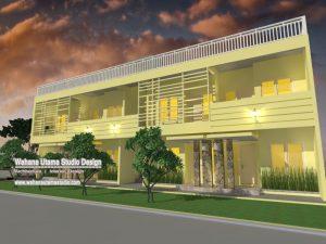 Desain Exterior Kontrakan Dan Rumah Kos 2 Lantai