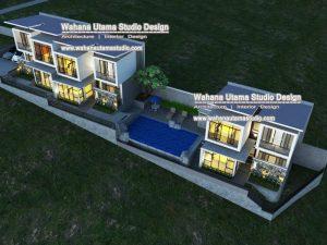 Denah Gambar 3D Villa Di Batu