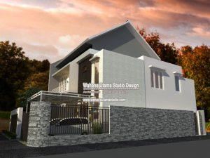 Desain Gambar 3D Rumah Minimalis Tampak Samping