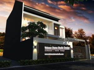 Desain Gambar 3D Rumah Minimalis Tampak Depan