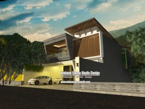 Gambar 3D Exterior Rumah Modern Mewah Jakarta