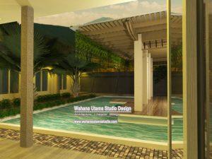 3D Interior Design Rumah Modern Kontemporer