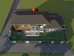 Gambar 3D Tampilan Rumah Dari Depan Atas