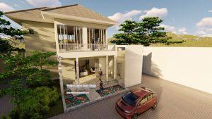 Gambar Rumah 2 Lantai Modern Tropis Minimalis