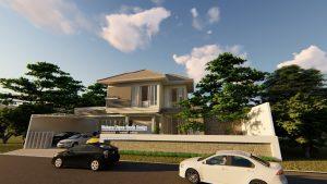 Desain Exterior Rumah 2 Lantai Modern Tropis