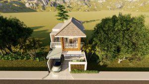 Gambar Denah 3D Rumah Modern Bapak Agustinus K. Di Bekasi