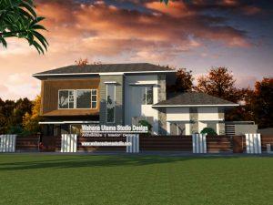 Desain Fasad Rumah Modern Kontemporer 2 Lantai