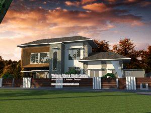 Jasa Arsitek Rumah Modern Kontemporer Bapak Gilang Andika Di Bekasi Ukuran Tanah 20 x 12