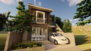 Desain 3D Rumah Modern 2 Lantai
