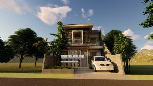 Desain Rumah Modern 2 Lantai Tampak Depan