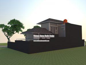 Desain Gambar 3D Rumah Modern Kontemporer 2 Lantai