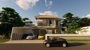 Jasa Desain Rumah 2 Lantai Bapak Rudi N Salim Di Malang