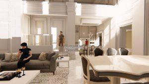 Desain Interior Rumah Eropa Klasik Bapak Subiyanto