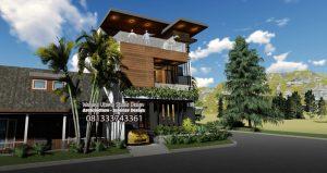 Desain Rumah Hook Sudut Pojok Jalan