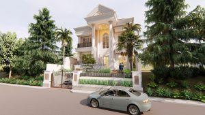 Desain Rumah Eropa Klasik Mewah Bapak Subianto Jakarta
