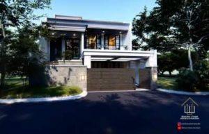 Desain Rumah Mewah American Style 2 Lantai