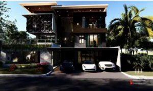 Desain Rumah Tropis Mewah Ibu Yenny BSD Tangerang