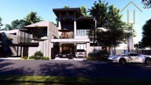 Desain Exterior Rumah Split Level Mewah