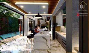 Desain Interior Rumah Homey Mewah
