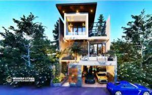Desain Rumah Mewah 10x25 meter